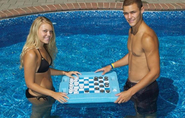 Floating Chess Board For the Pool - Floating Checkers Board