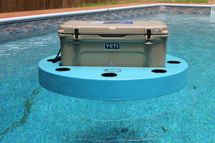 Floating cooler island - floating cooler floater for the lake or a pool