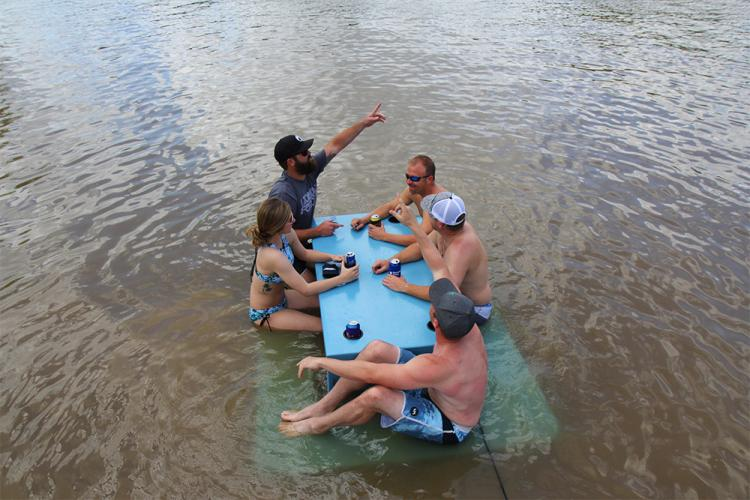 Floating Picnic Table - Water-based foam picnic table - Lake party table