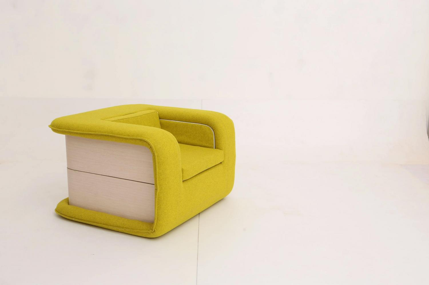 FLOP Multi-functional Arm Chair Instantly Turns Into a Bed - Folding chair bed opens like a book