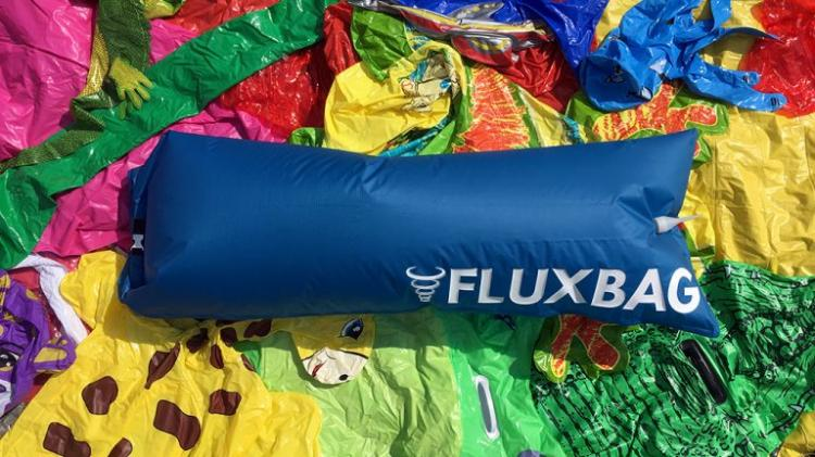 FluxBag - One Breath Inflate Pool Toys - Easy inflate your pool toys and air mattress - Push bag inflate