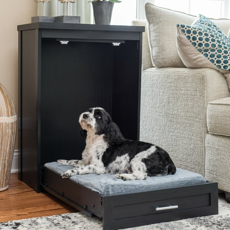Fold-Up Murphy Dog Bed Cabinet Saves Space When Not In Use
