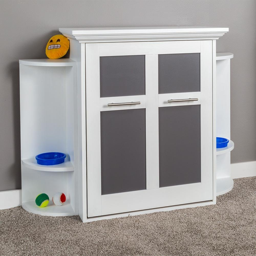 This Super Cute Fold Up Murphy Dog Bed Cabinet Saves Space