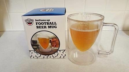 Football Shaped Beer Mug