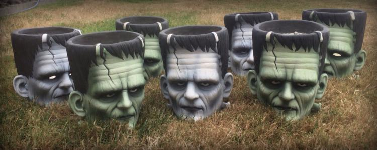 Frankenstein Head Flower Pot