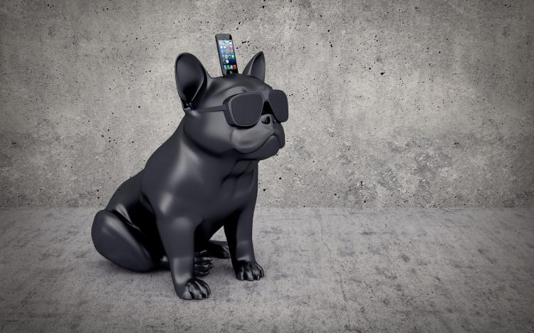 french bulldog iphone speaker dock 7424