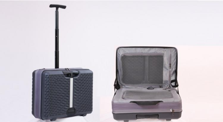 FUGU Expandable Luggage - Doubles as a Work Desk When Opened
