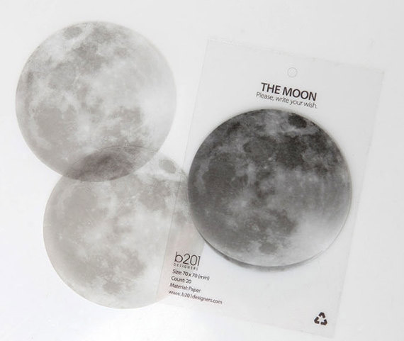 Full Moon Shaped Sticky Notes