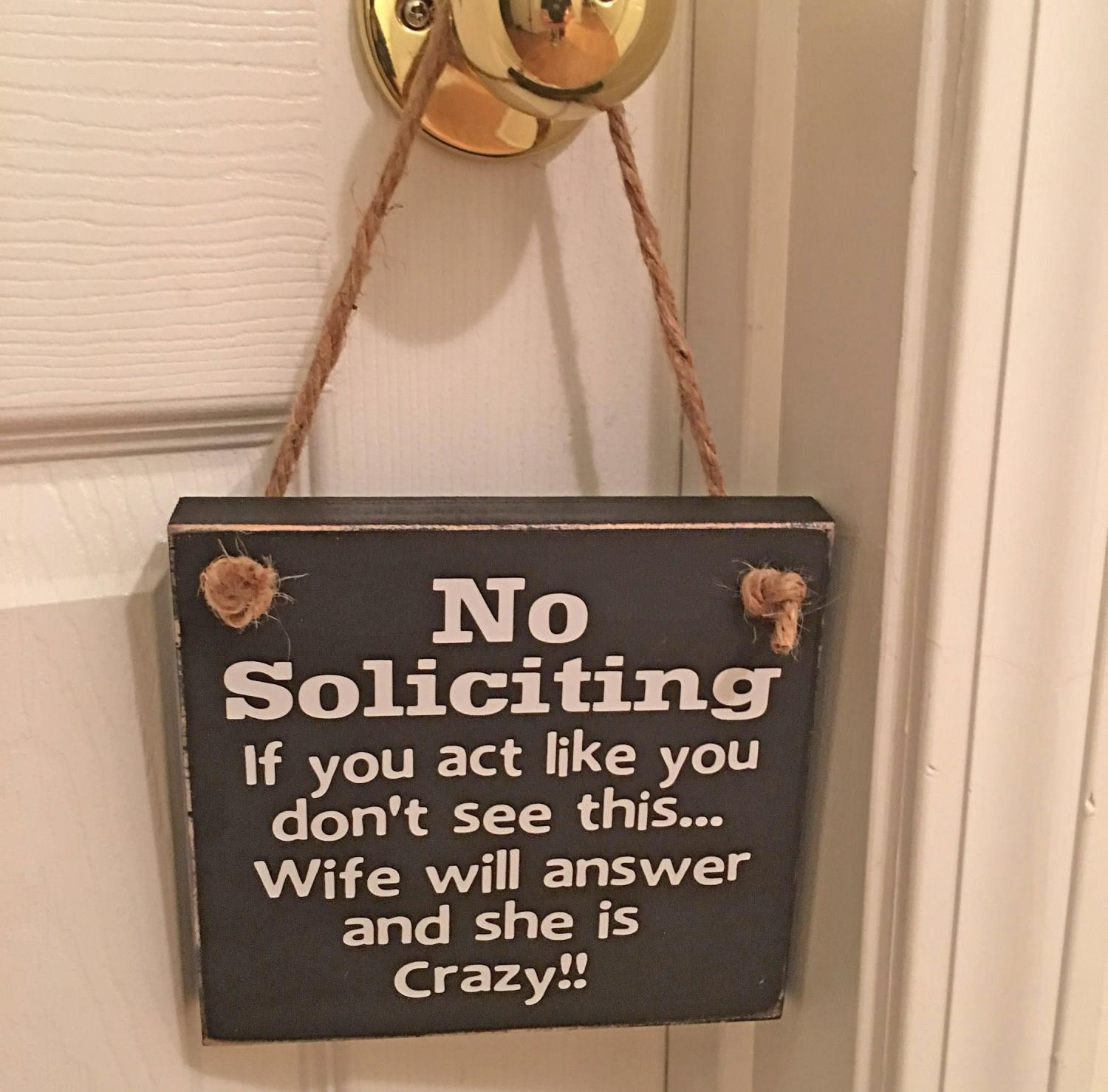This Welcome Solicitors Sign Should Be On Every House That Hates Door To Door Sales People