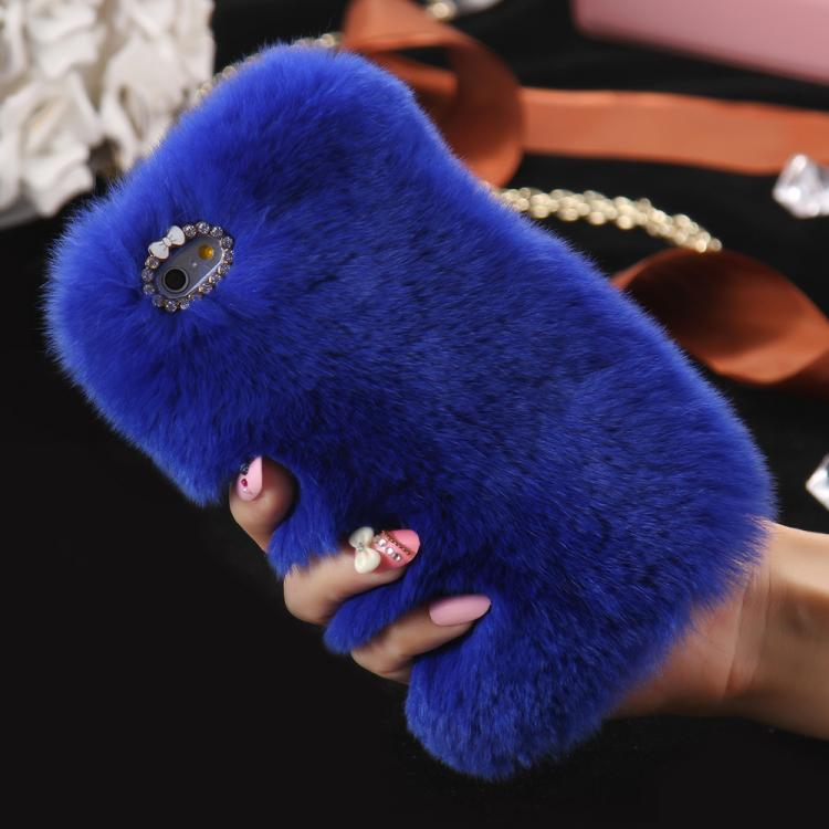 Fur iPhone Case - blue