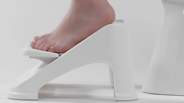 Turbo Fusion Pooping Stool - Toilet Squatting Stool elevates your legs for better flowing poop