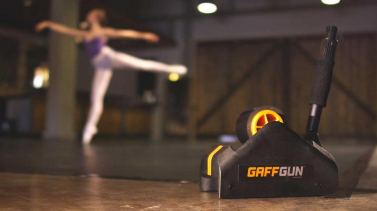 Gaff Gun Automatically Tapes Down Cords To Your Floor