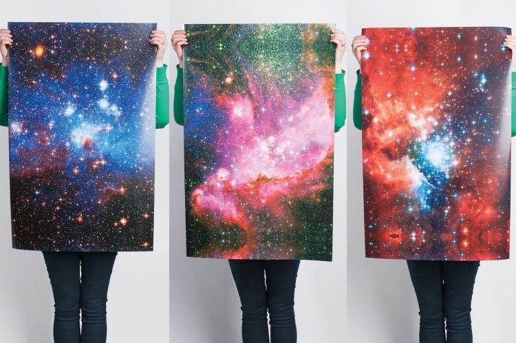 Galaxy Wrapping Paper - Space Themed Wrapper Paper