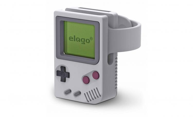 Elago W5 Game Boy Apple Watch Stand - Gameboy Smart Watch Wireless charging Nightstand