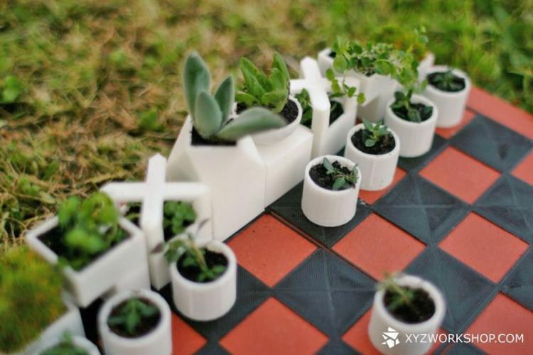 Garden Chess Set   Micro Planter Chess Pieces