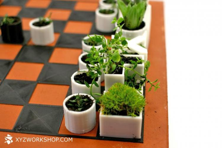 Garden Chess Set - Micro Planter Chess Pieces