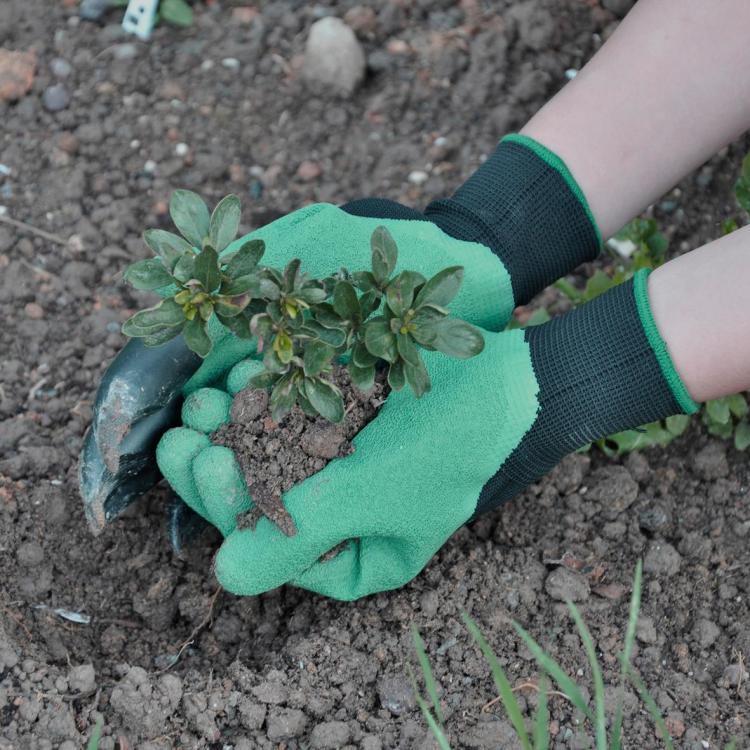 花园精灵园艺手套 - 用爪子的花园手套挖掘