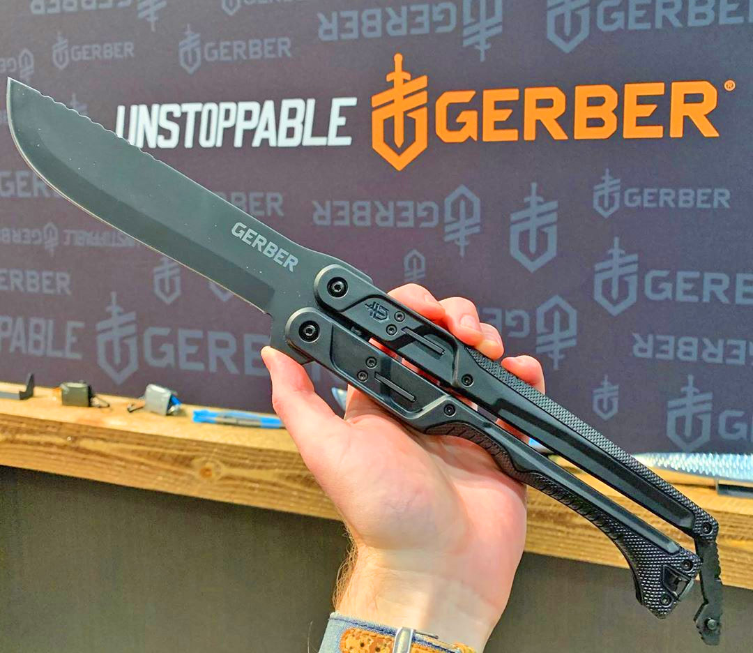 Gerber Gear Doubledown - Giant 15 inch folding butterfly-style machete knife