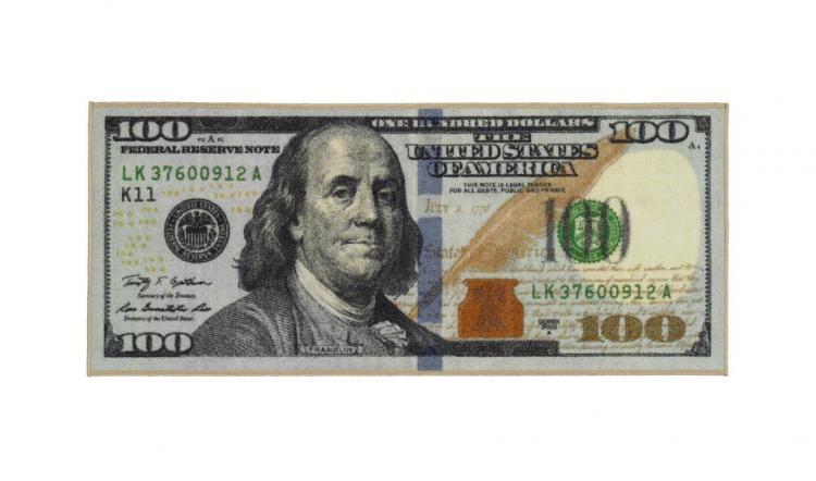 Giant 100 Dollar Bill Rug