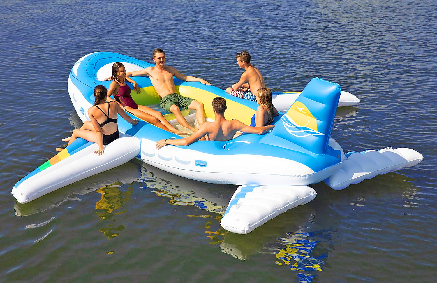 Giant 18-Foot Airplane Lake Float - Inflatable Private jet lake float