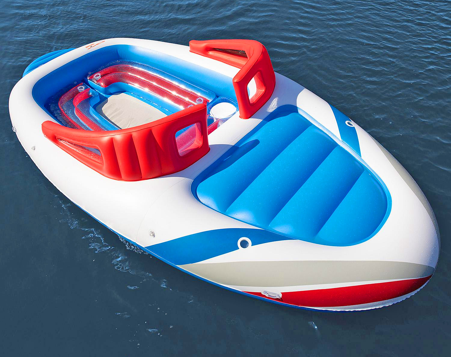 Giant 20-Foot Speed Boat Lake Float - Inflatable life-size Speed Boat lake float