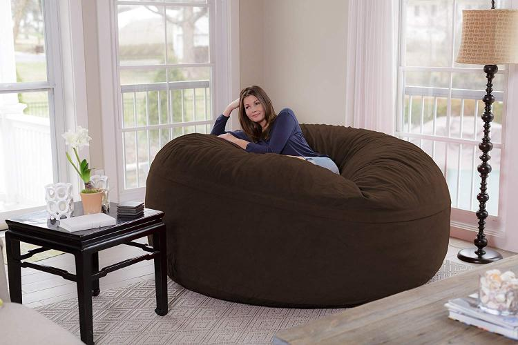 Prime Theres A Giant 8 Foot Bean Bag Chair That Can Fit Up To 3 People Machost Co Dining Chair Design Ideas Machostcouk