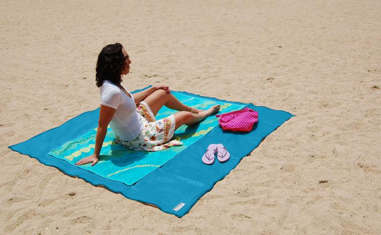 Cgear Sand-Free Beach Mat - Giant Beach Towel Absorbs Sand For a sand-free beach experience