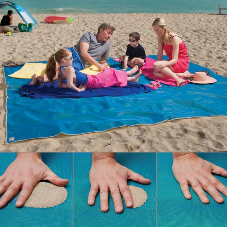 Cgear Sand-Free Beach Mat - Giant Beach Towel Absorbs Sand For a sand-free beach experience