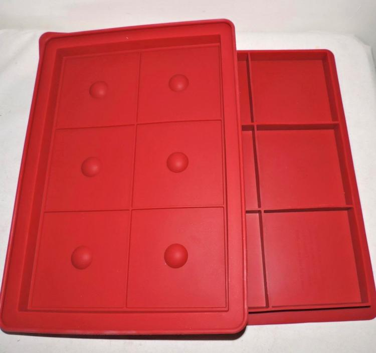 6 Burger Press - Silicone 6 Thick Square Burger Press