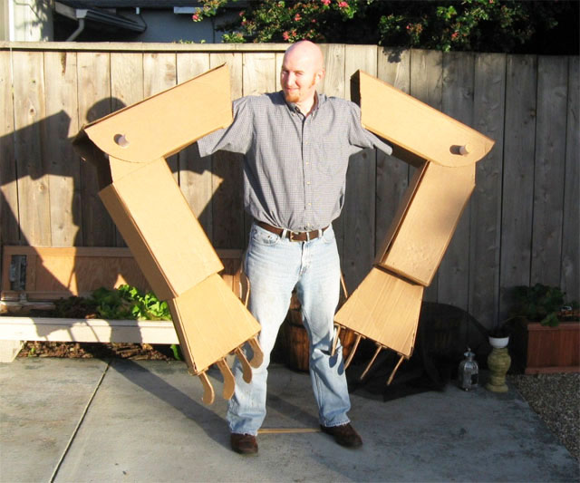 Giant Cardboard Robot Arms