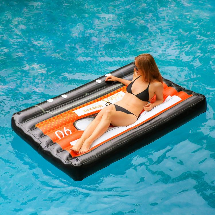 Giant Cassette Tape Pool Float