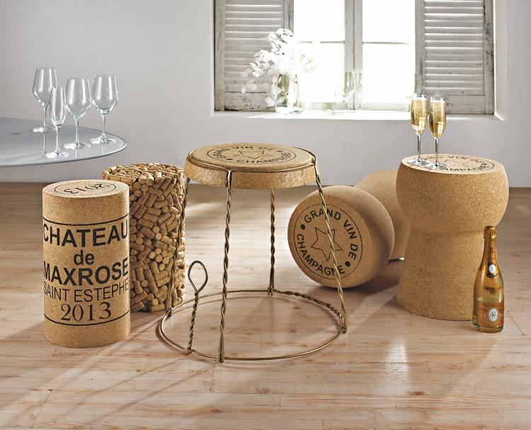 giant champagne cork stool. Black Bedroom Furniture Sets. Home Design Ideas
