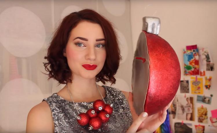 Giant Christmas Ornament Ball Purse