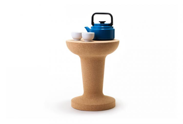 Giant Pushpin Cork Stool/Table - Light