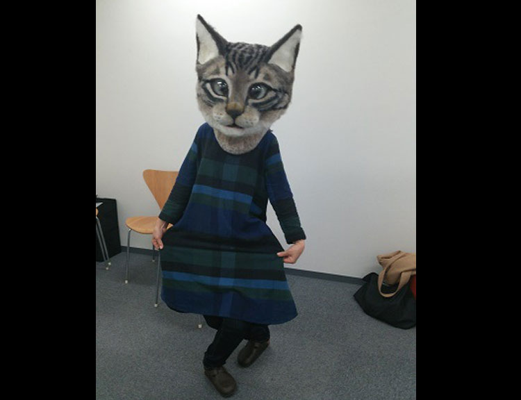Giant Wool Cat Head Mask
