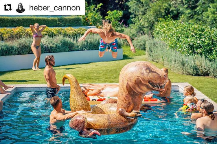 Giant Dinosaur Inflatable Pool Float - Jurassic Park T-Rex Pool Floaty