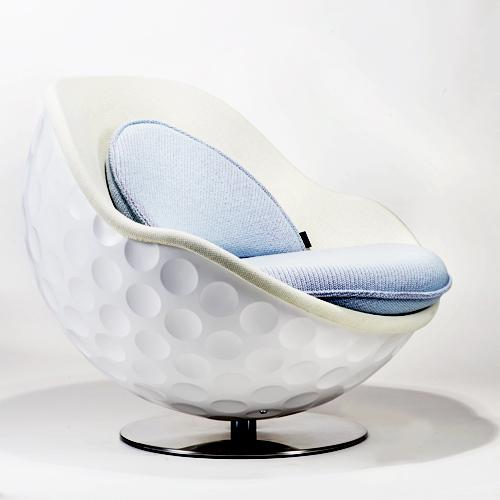 Giant Golf Ball Shaped Lounger Chair