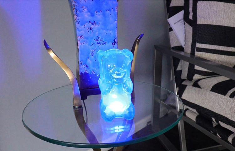 Giant Gummy Bear Night-Light - Gummygoods gummy bear light - click belly of bear to turn on light