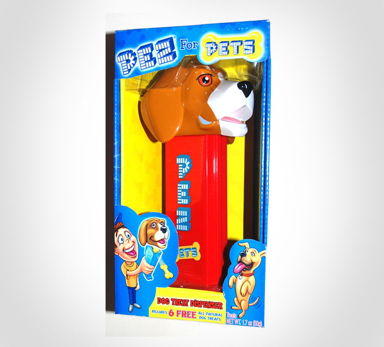 Giant Pez Dispenser For Dog Treats - Giant dog pez dispenser - dispenses bone shaped dog treats