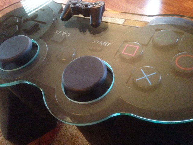 Giant Playstation 3 Controller Coffee Table