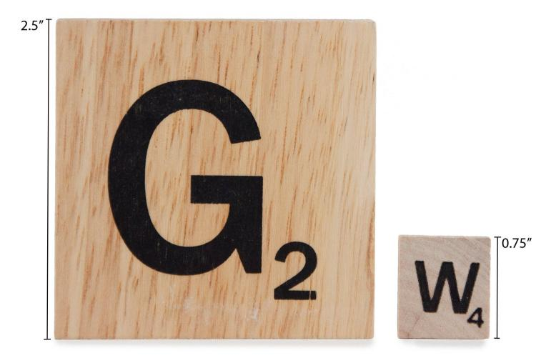 Giant Scrabble Board Game - Giant Wooden Word Game