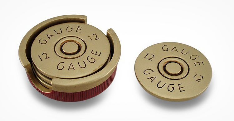 Giant Shotgun Shell Coasters