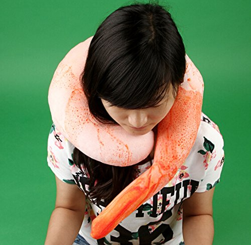 Giant Shrimp Travel Neck Pillow