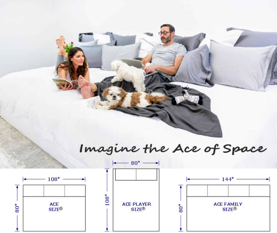 Ace Size Huge Beds - Giant Size Beds That Measure a Massive 12 Feet Wide