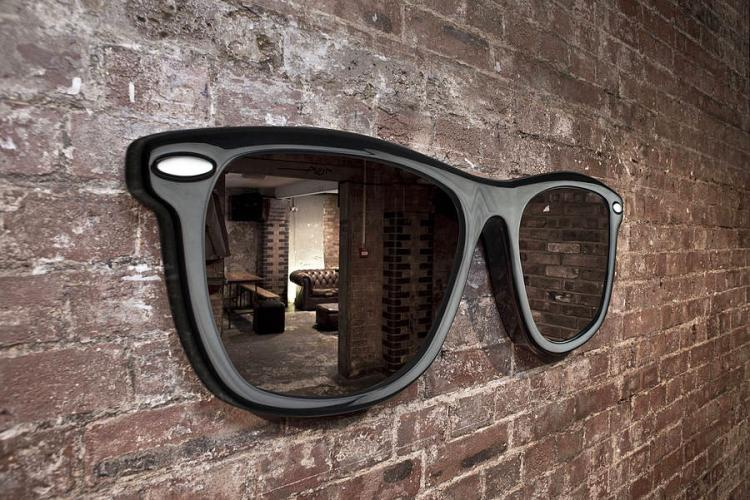 Giant sunglasses wall mirror for Decoration murale hipster