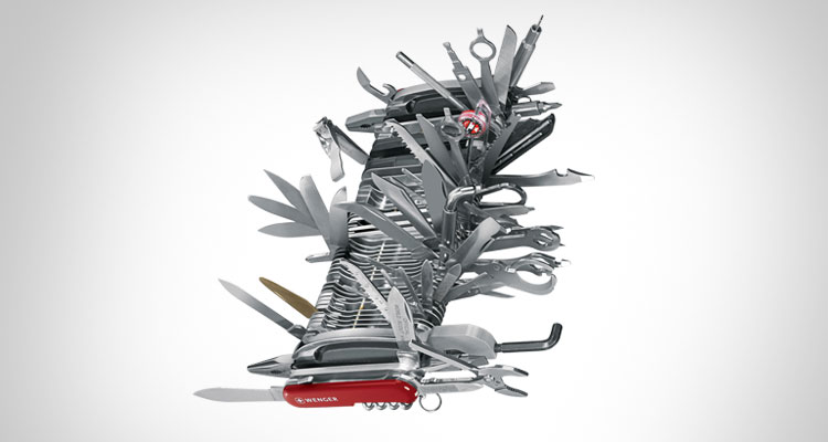 Giant Swiss Army Knife - Has over 141 functions - Wenger 16999
