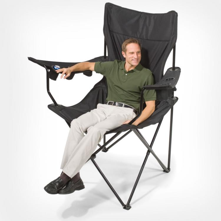 Giant Lawn Chair - Giant Travel Chair With 6 Cup Holders  sc 1 st  Odditymall & This Giant Folding Chair Has 6 Cup Holders