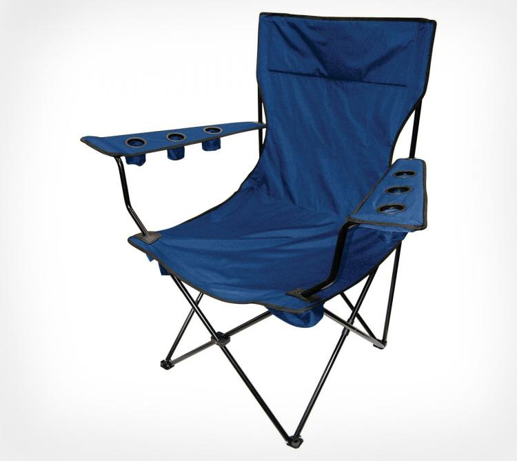 Giant Folding Chair   Giant Travel Chair With 6 Cup Holders