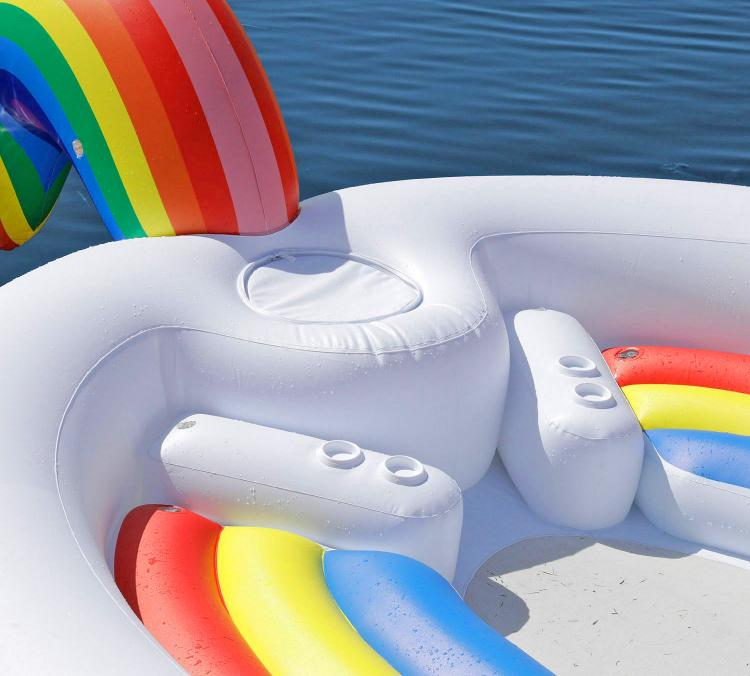 Giant Unicorn Lake Float Seats Up to 6 Adults - Party Bird Island Giant Inflatable Unicorn Water Float