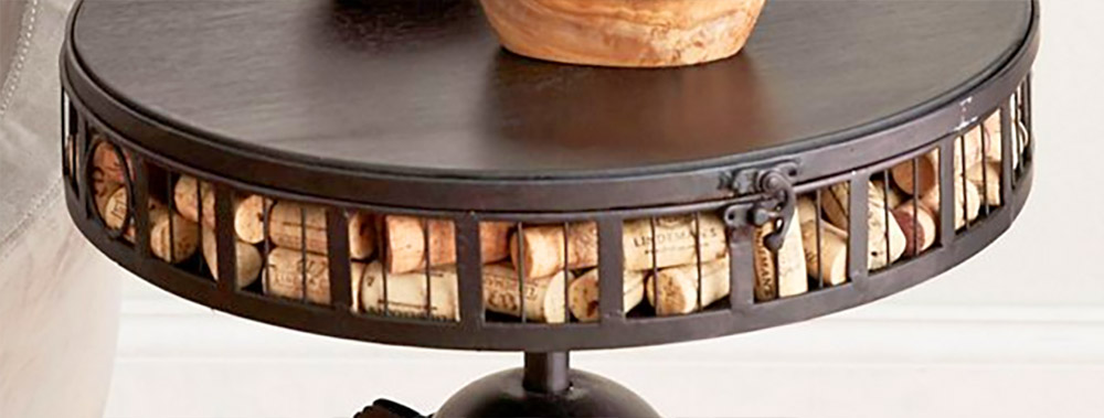 Giant Wine Opener Corkscrew Side Table That Stores Your Used Corks